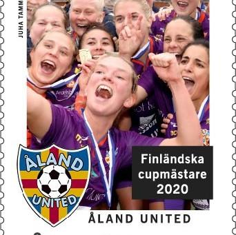 Åland United blir frimärke