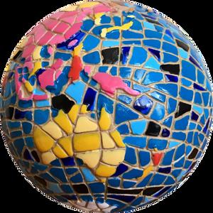 Globe-mosaic
