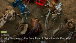 Existing Technologies Can Stem Flow of Plastic into the Oceans by 80%