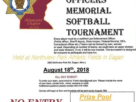 NLPOA Fallen Officers Memorial Softball Tournament
