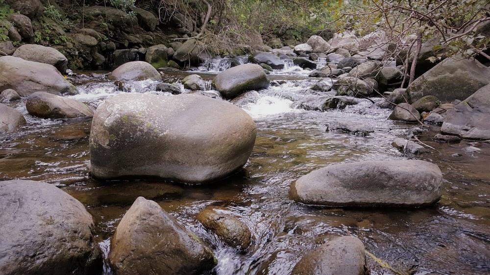 Stream in historic iao valley hawaii