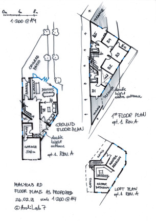Proposed Floor Plans for Malyons Road (Opt. 1)