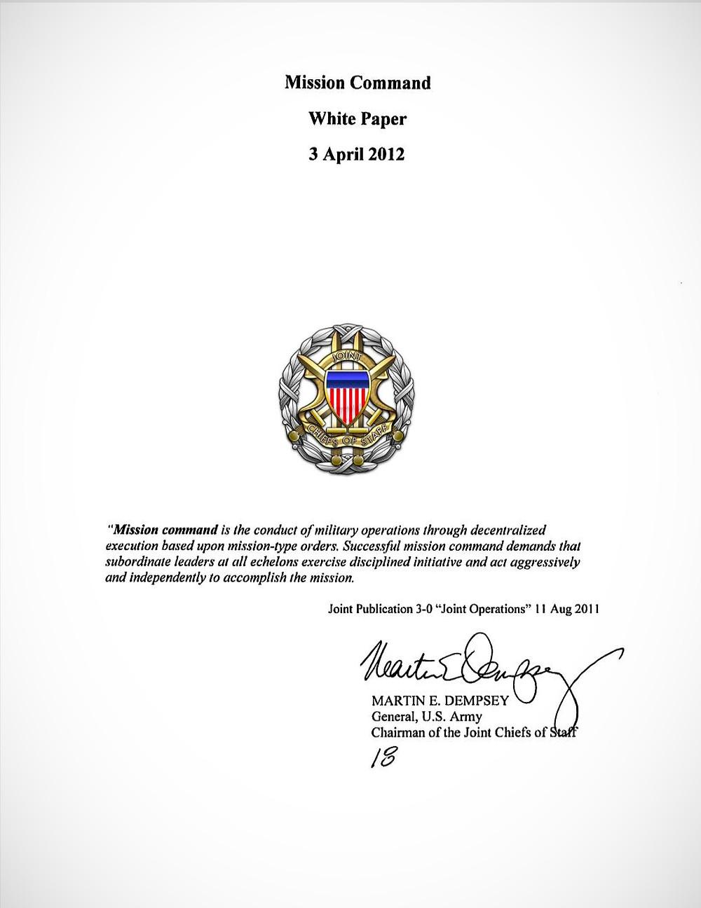 Mission Command White Paper - 3 April 2012