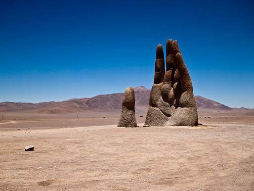 La Main du désert d'Atacama, Chili