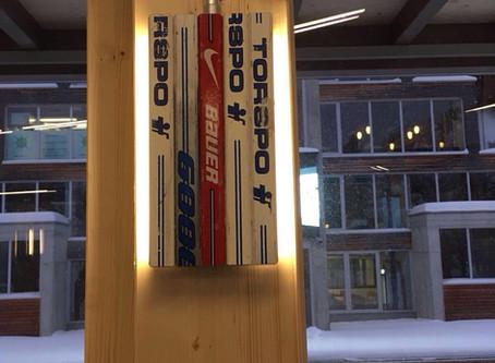 Weitere Impressionen vom Aufbau des Showcases Quadrin am Spengler Cup in Davos