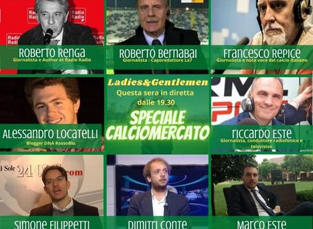 L&G Speciale CalcioMercato: questa sera dalle 19.30