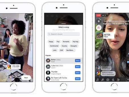 Facebook 推出音樂貼紙 為個人檔案、帖子和故事增添色彩!