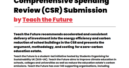 Invest in net-zero schools: our submission to the Comprehensive Spending Review