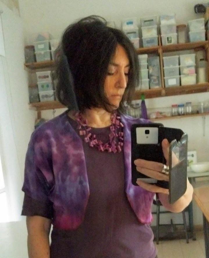 Purple layering bolero