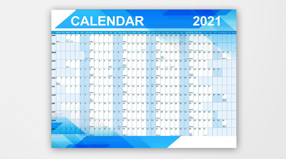 2021 wall planner.