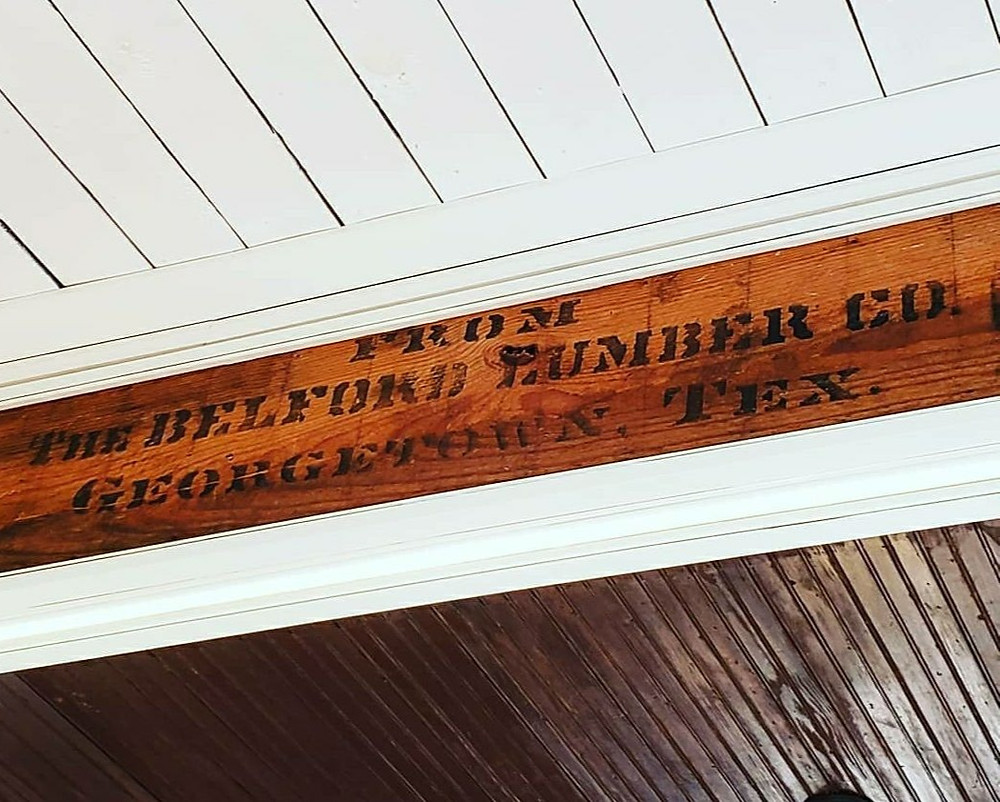 Belford Lumber Company Beam | Image Courtesy Root Story Studios via Historic Georgetown: Home Series