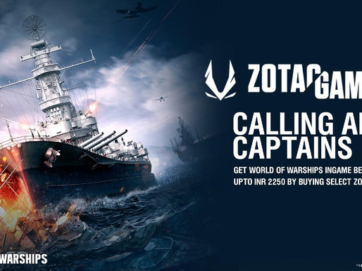 ZOTAC GAMING announces first-ever World of Warships Bundle for Indian Market