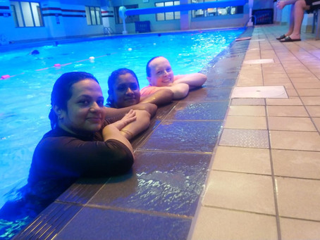 Great night in the pool