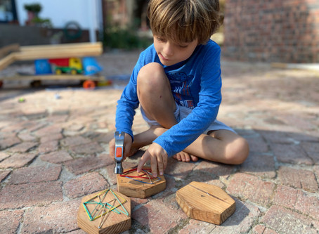 Create open ended play opportunities with materials you might have at home