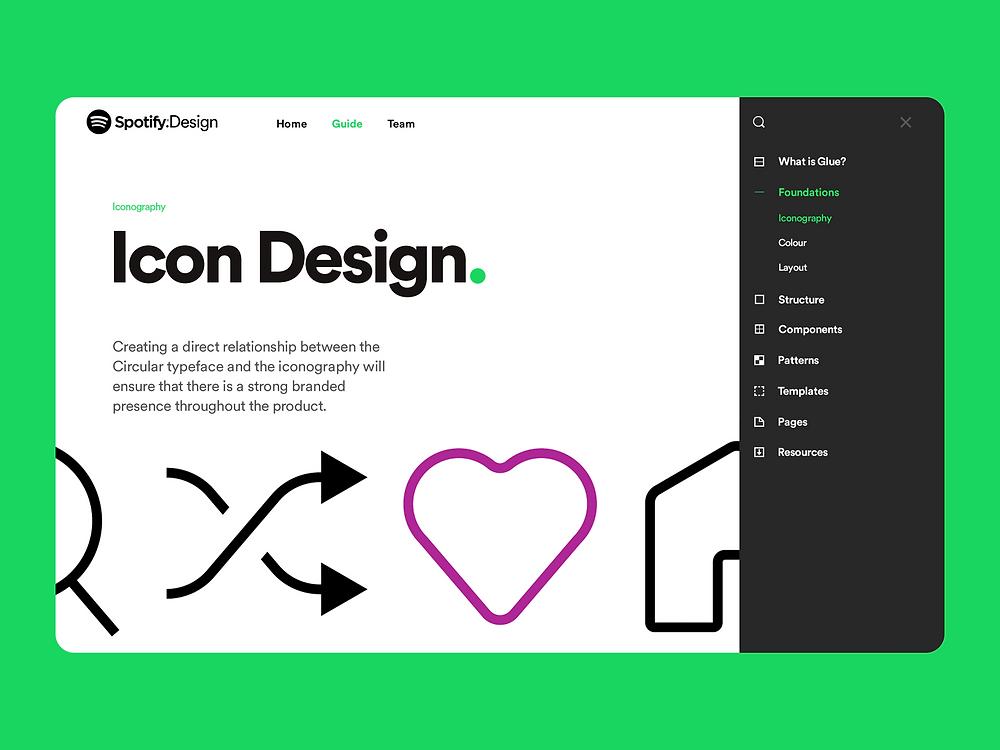 Spotify Design Team Website