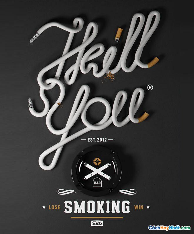 Áp phích quảng cáo chống hút thuốc