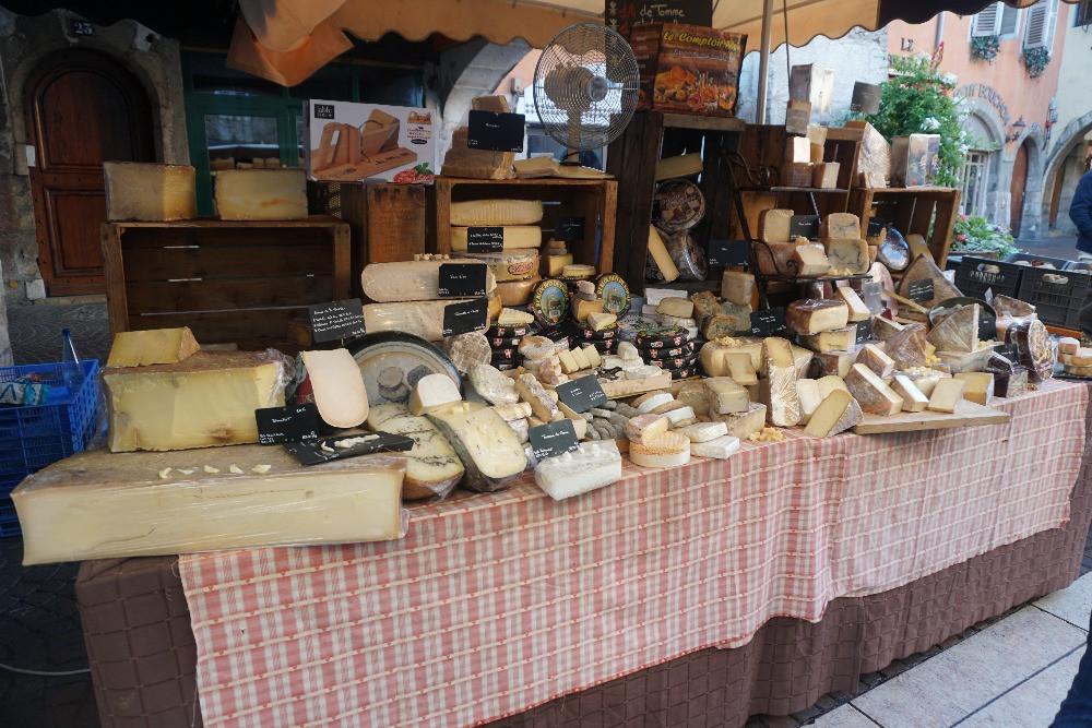 שוק אוכל, אנסי, צרפת, שווקים באנסי
