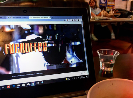 Grabbing a cuppa at F*ckcoffee