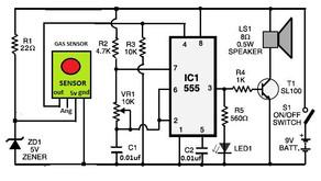 L41, LPG Gas Leakage Sensor Alarm