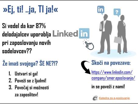 Si vedel da kar 87% delodajalcev uporablja LinkedIn pri zaposlovanju svojih novih sodelavcev?