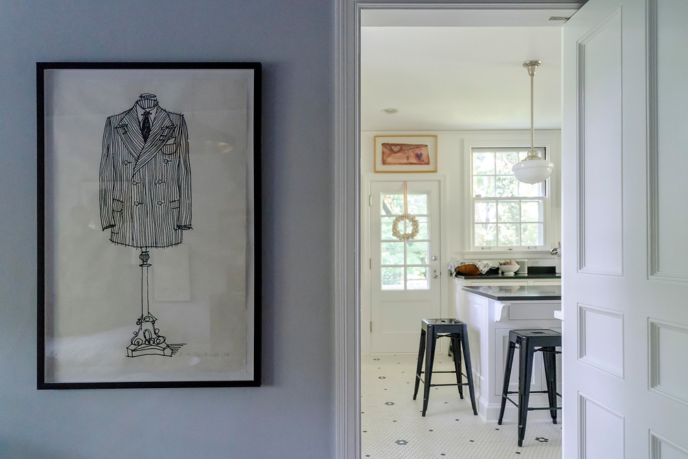 Portland real estate, good architecture in Portland, well done interior design, classic, suit drawing, clean and fresh kitchen portland, portland design