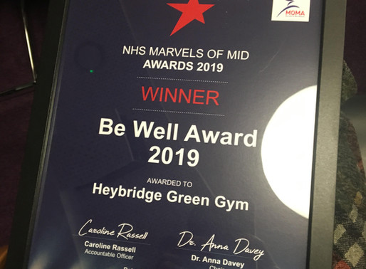 Heybridge Co-operative Academy Green Gym takes home Be Well Marvels Award