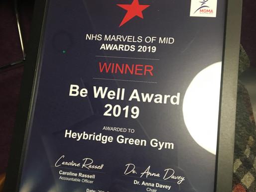 Heybridge Co-operative Academy Green Gym takes home Be Well Marvels Award