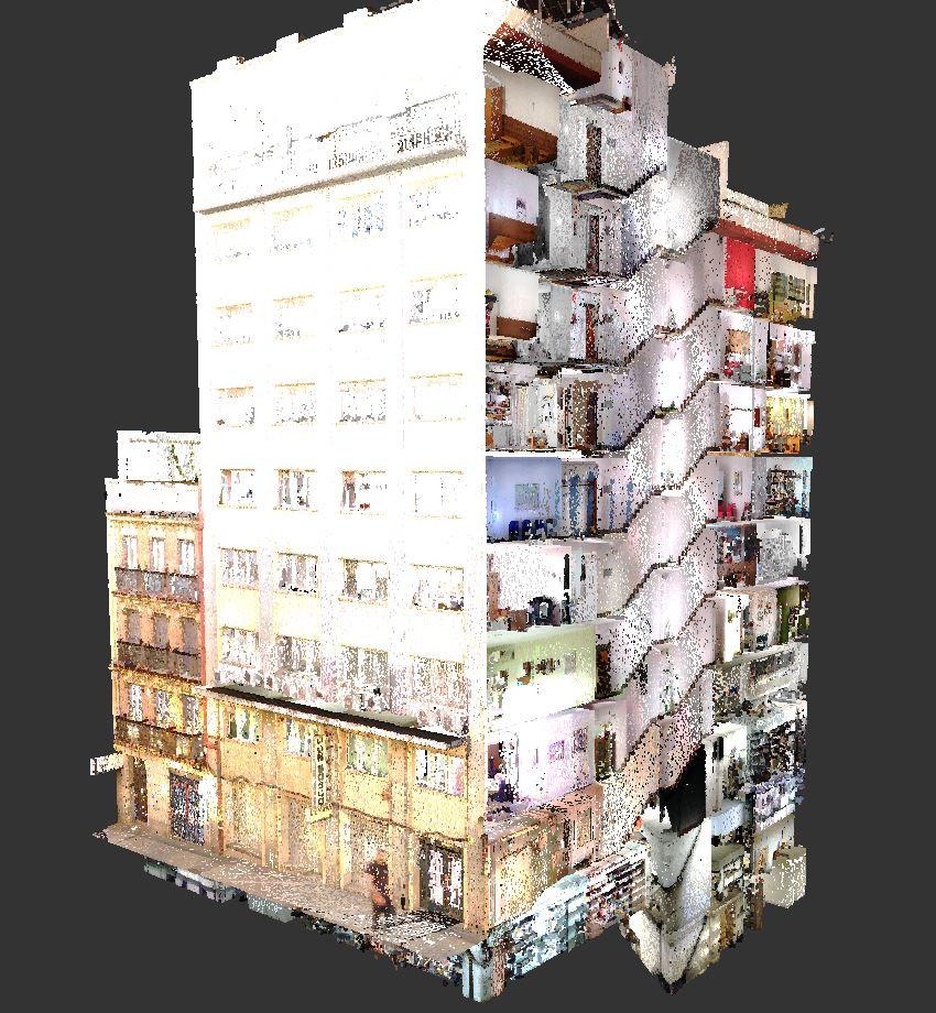 Escaneo láser edificios completos - Barcelona