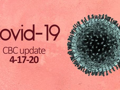 Covid-19: CBC Update 4/17/20