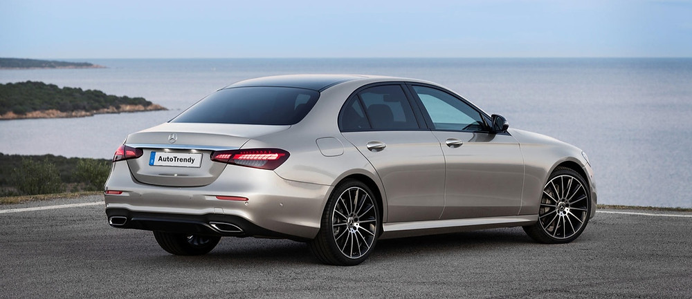 2021 Mercedes-Benz E-class rear angle, Car, Automotive, Automotive news, Auto, Automobile