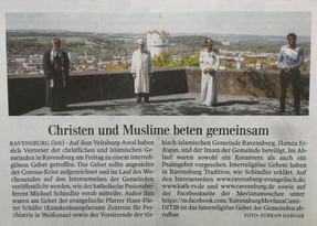 Christlich-muslimisches Gebet für die Menschen in Coronazeiten (17.4.2020)