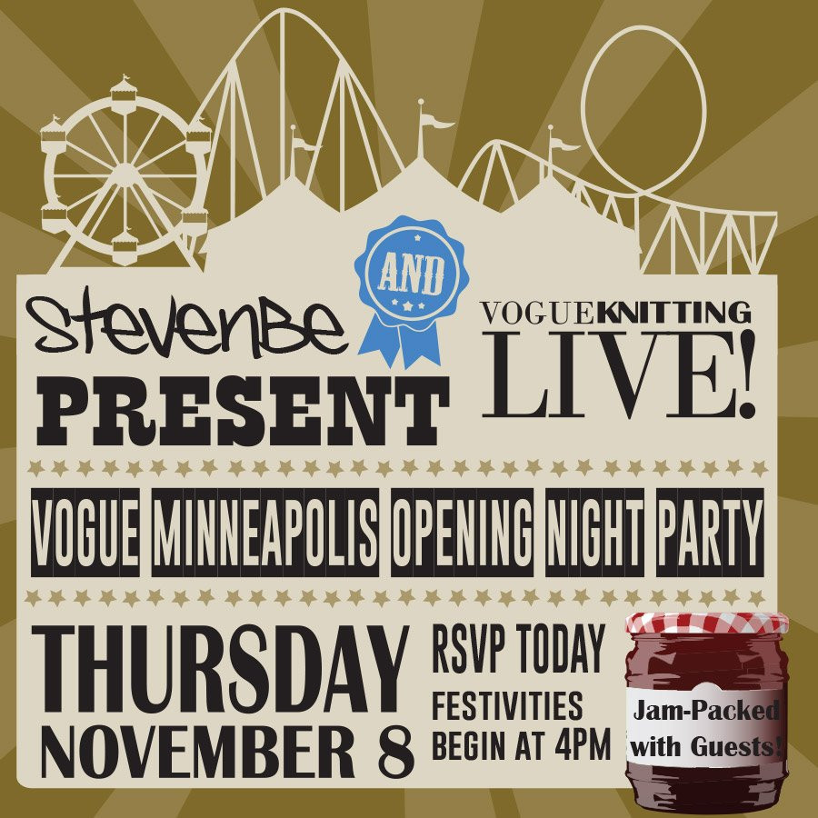 StevenBe & Vogue Knitting Live Opening Night Party