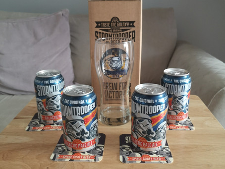 Blog #38. St Peter's Brewery - Stormtrooper: Galactic Pale Ale. Not sure on this Wan.