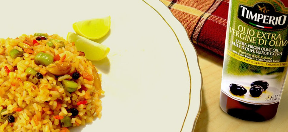 Lift the taste and healthiness of your fried rice with Extra virgin olive oil