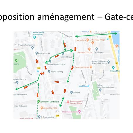 Projet de piste cyclable sur Gate-Ceps