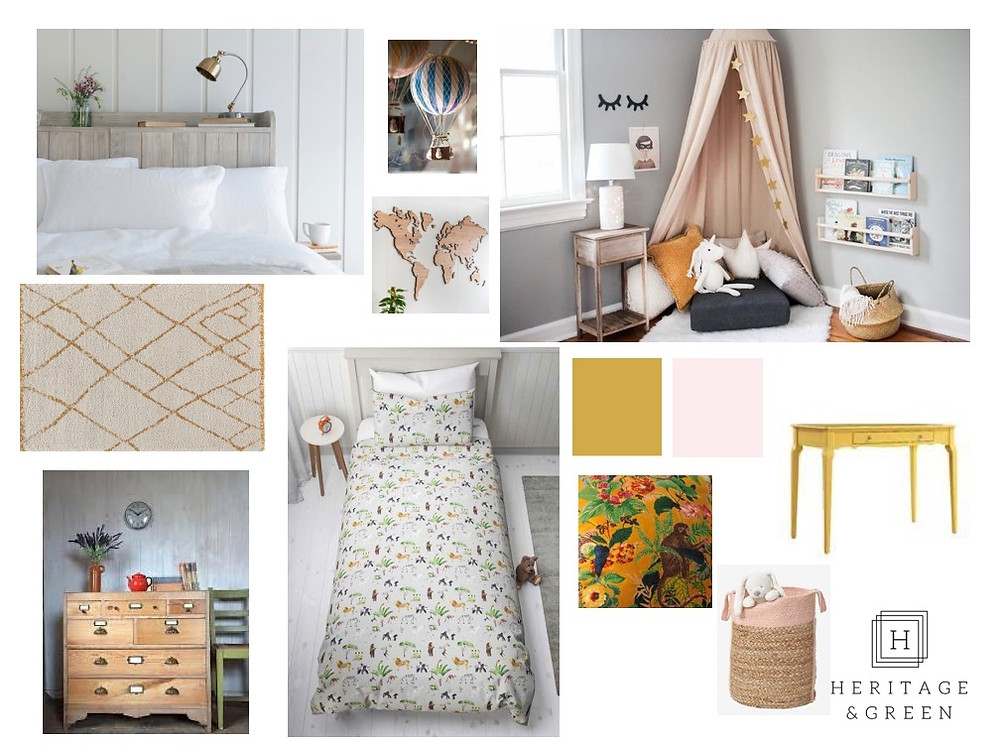 Children's Bedroom Moodboard