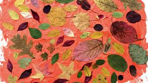Obraz z jesiennymi liśćmi