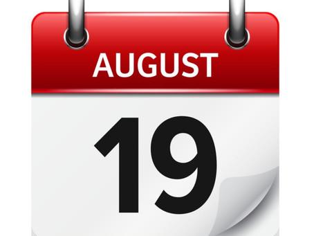 Fall Semester Starts August 19th! /  ¡El semestre de otoño comienza el 19 de agosto!