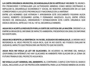 Agua Rica: Un proyecto legal que cumple con las normativas nacionales, provinciales y municipales