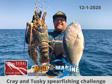 Cray and Tusky spearfishing challenge