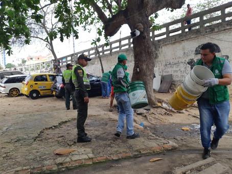 Recuperadas zonas públicas ocupadas por lavaderos ilegales de carros