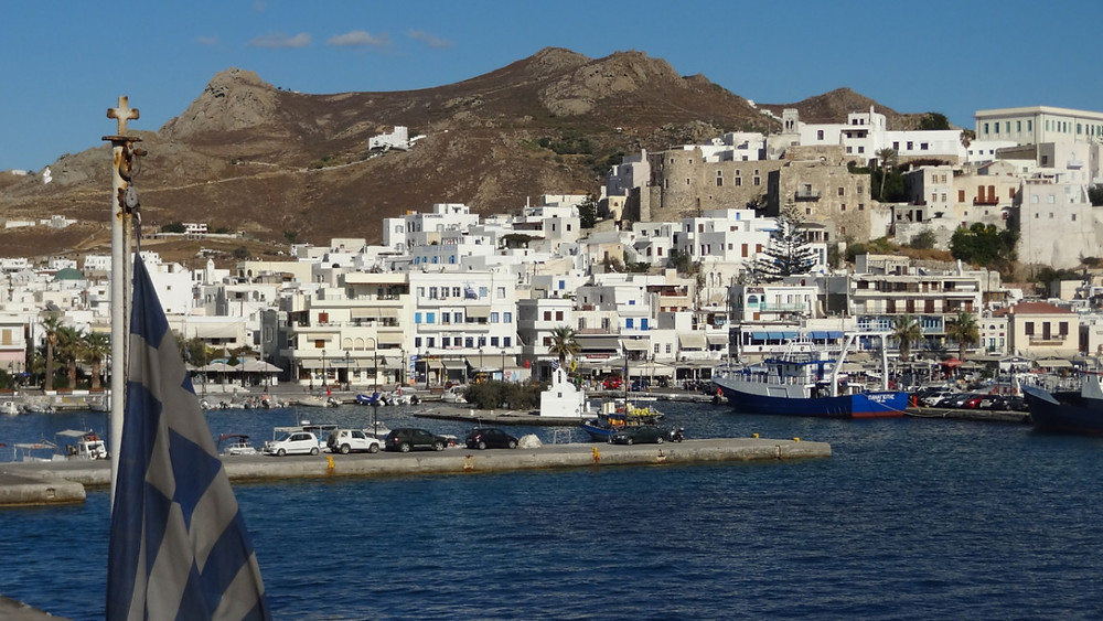 Naxos Town also known as Chora on the Island of Naxos