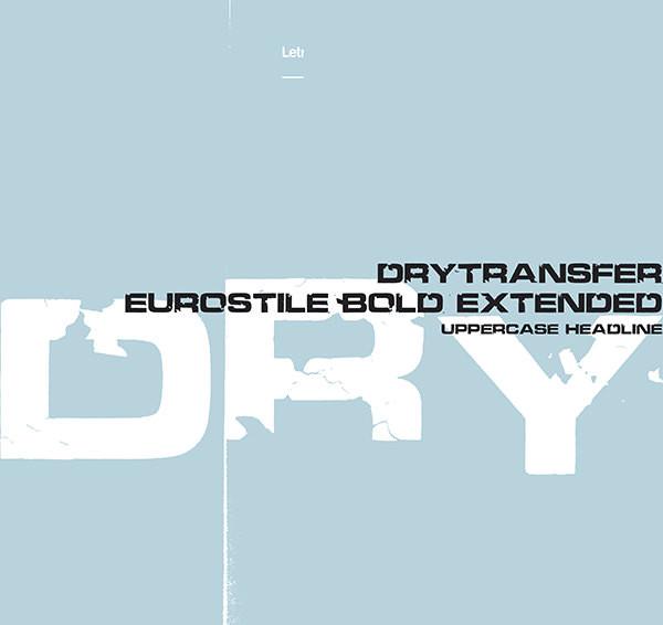Font Chữ DryTransfer Eurostile Bold Extended