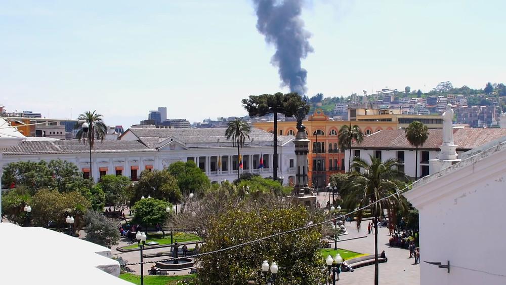Le volcan Guagua Pichincha se manifestant? Ne l'espérons pas!