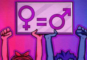 Imagem representativa de igualdade entre feminino e masculino