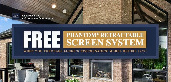 Buy our Breckenridge home from Homearama Cincinnati and get a free privacy screen system.