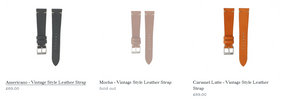 Straps from Bark and Jack shop