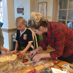 Baking christmas cookies with my kids is a family tradition during the holidays