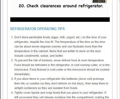 Refrigerator Tips for Saving Energy & Food Safety