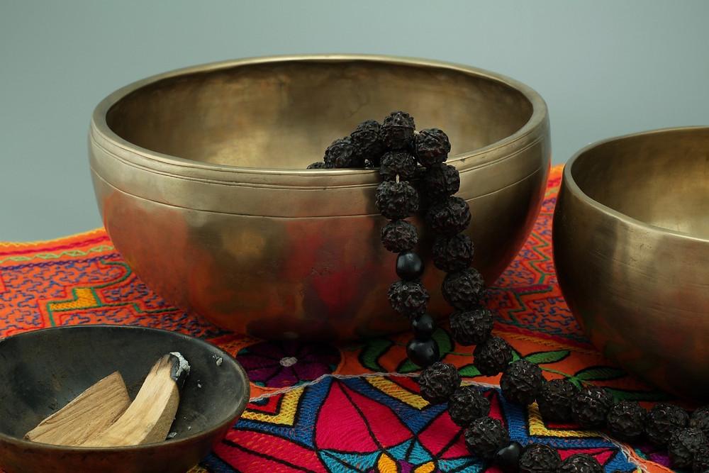prayer, singing bowl